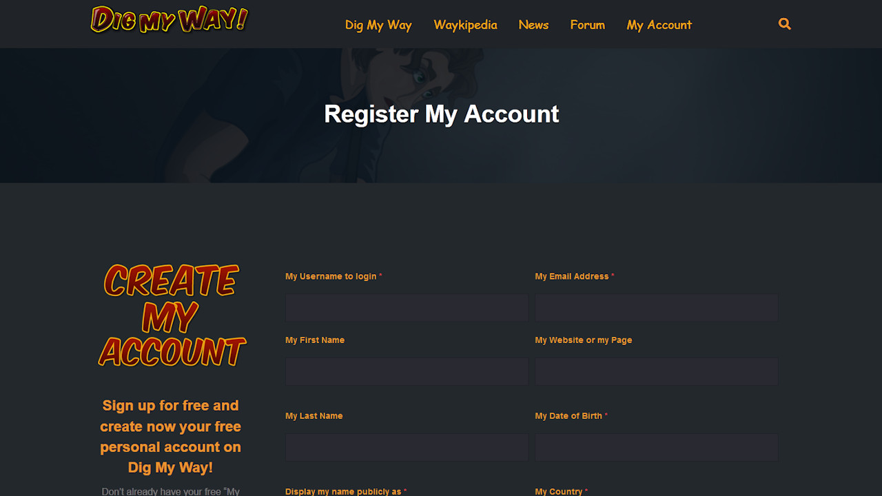 Register My Account