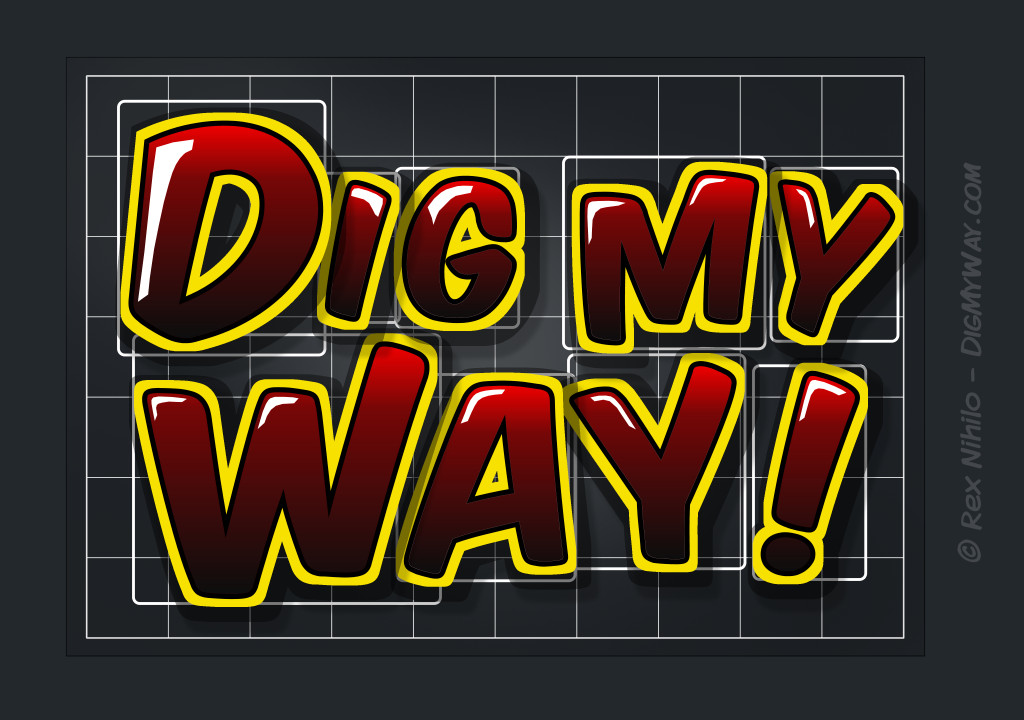 Dig My Way logo sketch