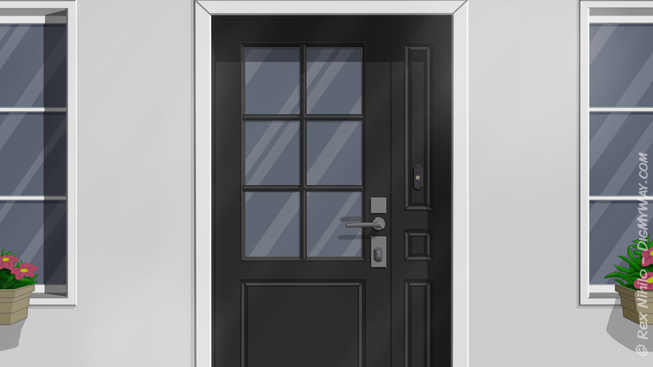 Location Home Exterior Door