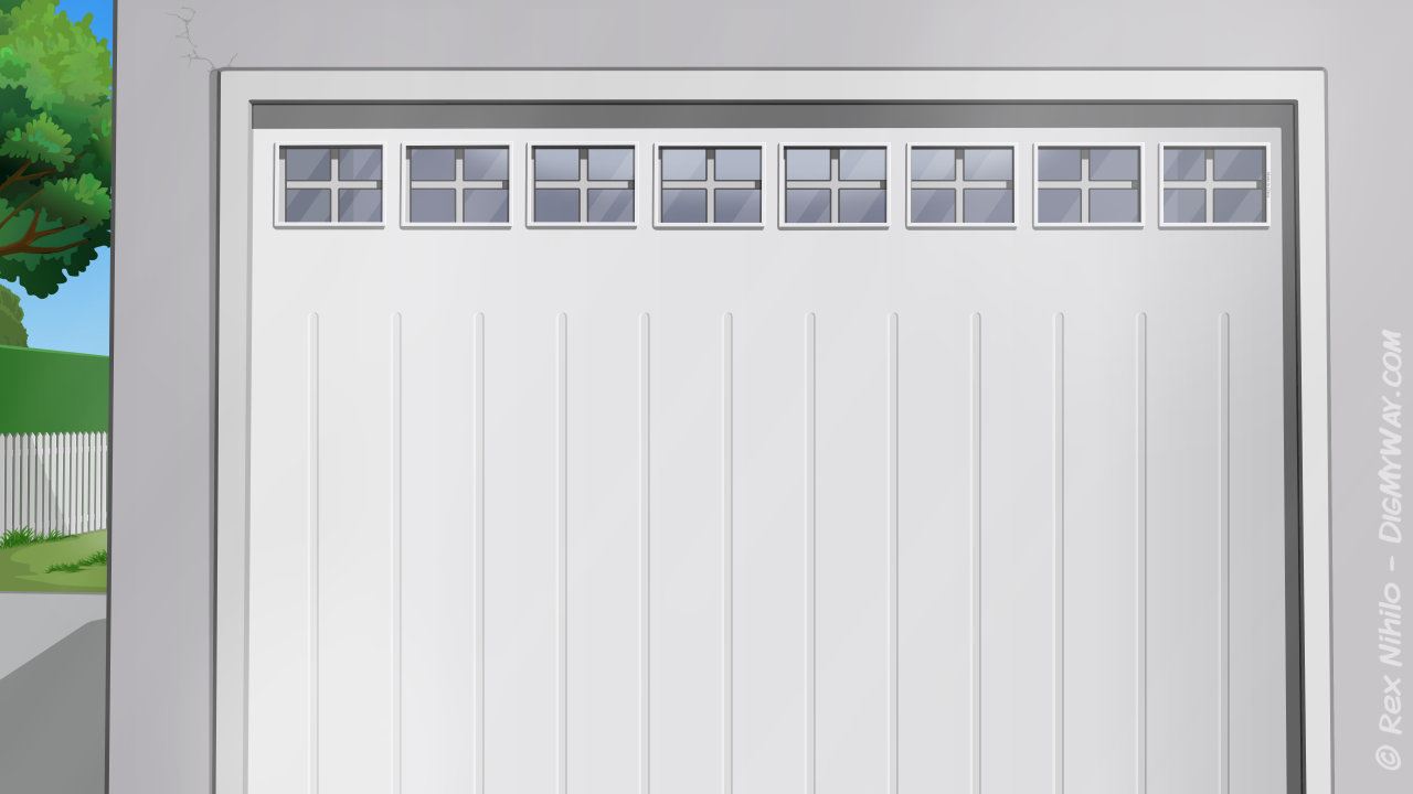 Location Home Exterior Garage Door